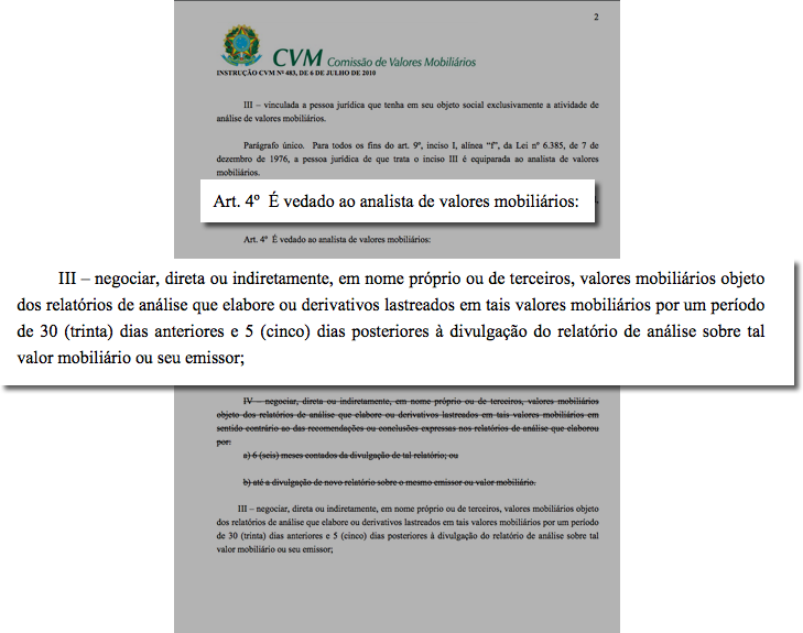 4bb801c2e9b Conforme consta no artigo 4º do texto integral da instrução da CVM  (Comissão de Valores Mobiliários) nº 483